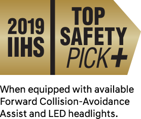 IIHS Top Safety Pick +. When equipped with available Forward Collision-Avoidance Assist and LED headlights.