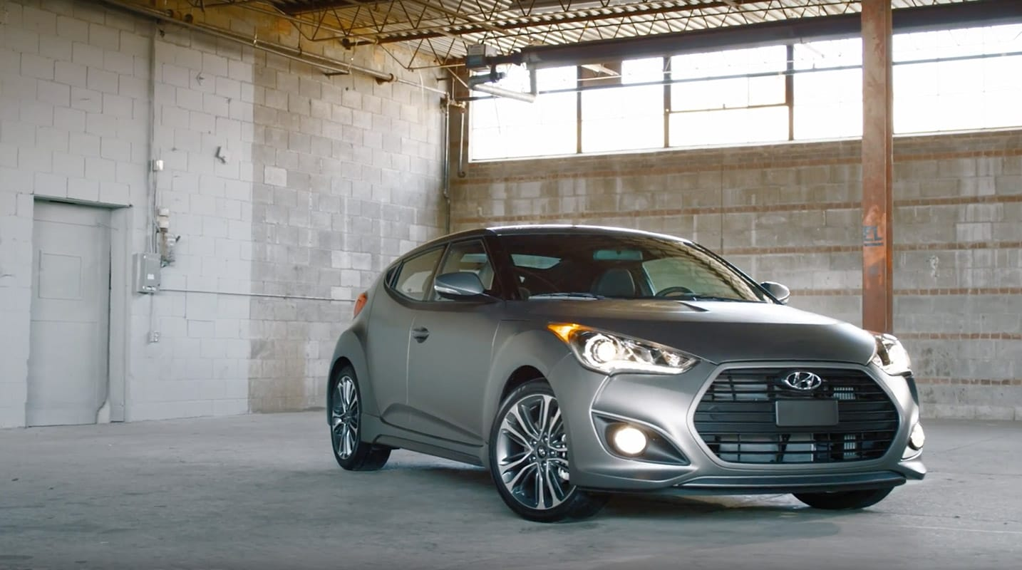 Stunning Style Bonnet And Passenger Side Profile With Signature Wide Grill | Veloster Turbo Hyundai
