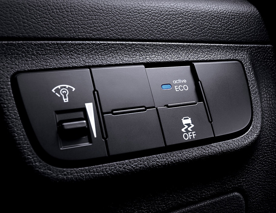 Image of Hyundai Veloster 2016 active eco system buttons