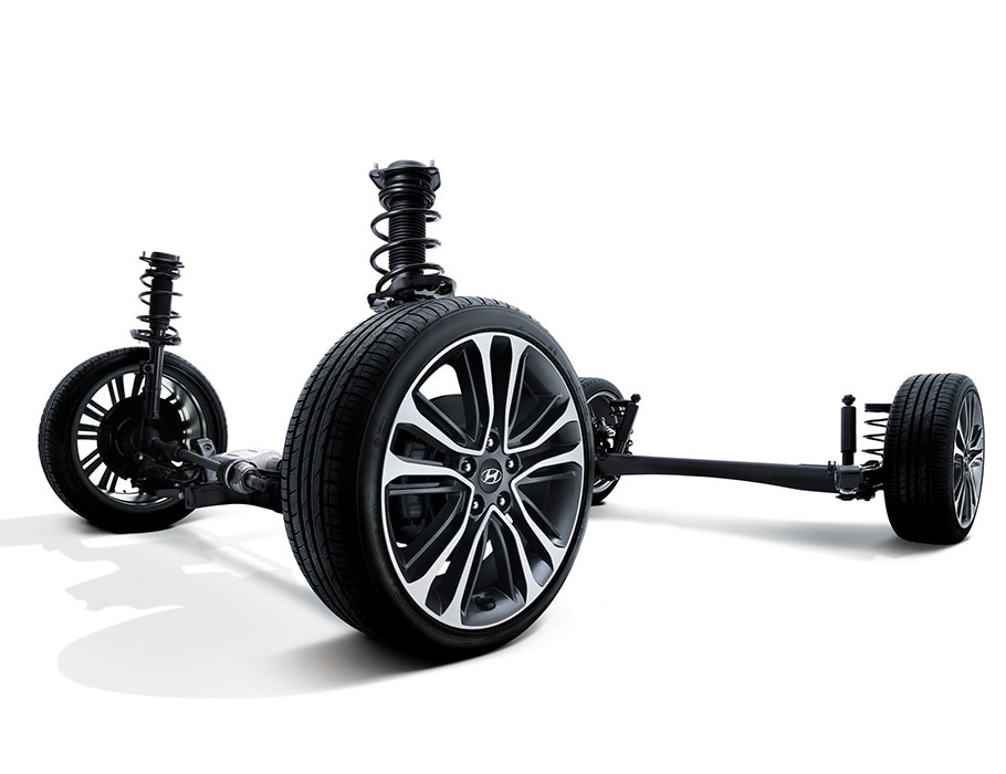 Image of Hyundai Veloster 2016 front suspension wheels