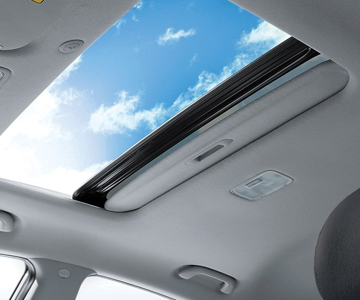 Interior photo of Hyundai Accent Sedan 2017 with power sunroof