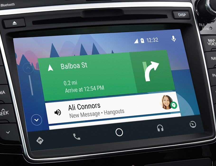 Image of Hyundai Elantra GT 2017 android auto seven inch interface screen