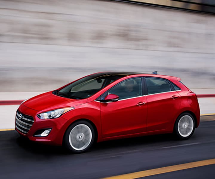 Diagram of Hyundai Elantra GT with Vehicle Stability Management and without