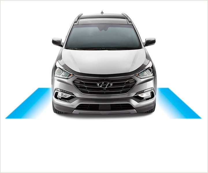 Diagram Of Lane Departure Warning Sensor Systems To Improve Improve Driver Safety | SUV | 2017 Hyundai Santa Fe Sport