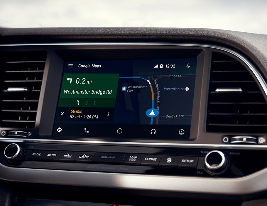 Hyundai Sonata Hybrid 2017 high-tech dashboard with countless options such as Android Auto