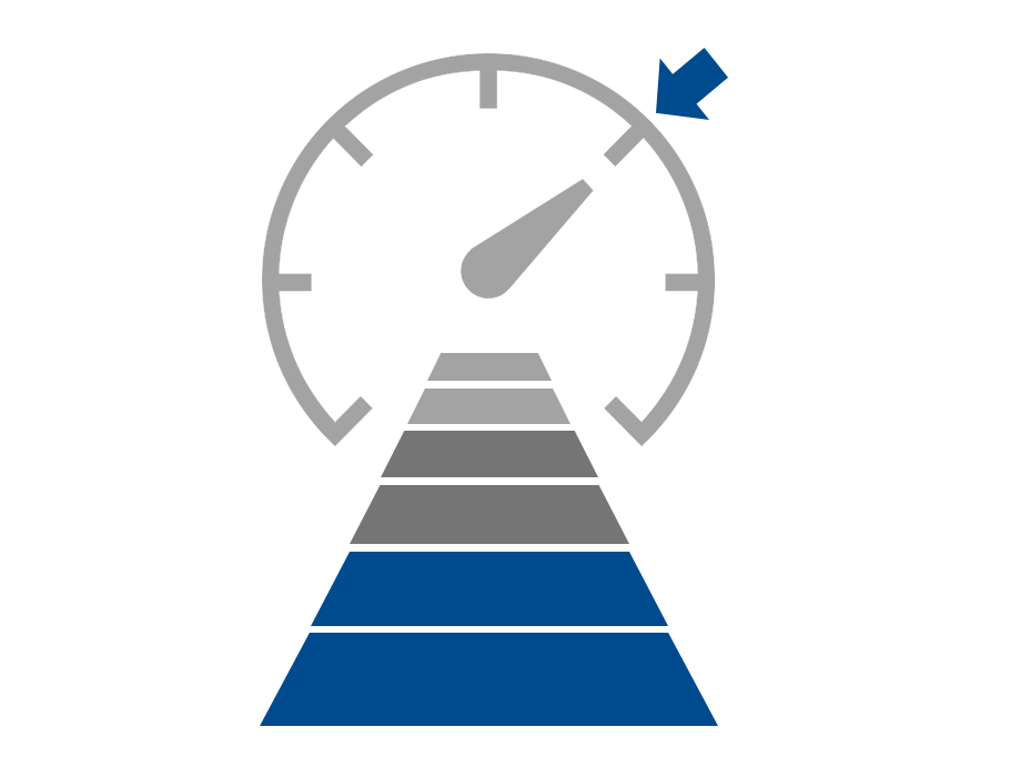 2D image of blue and silver adaptive cruise control logo