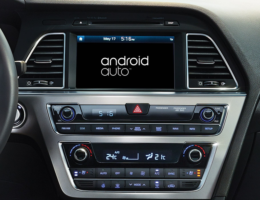 Image of Hyundai Sonata 2017 connection port for android auto