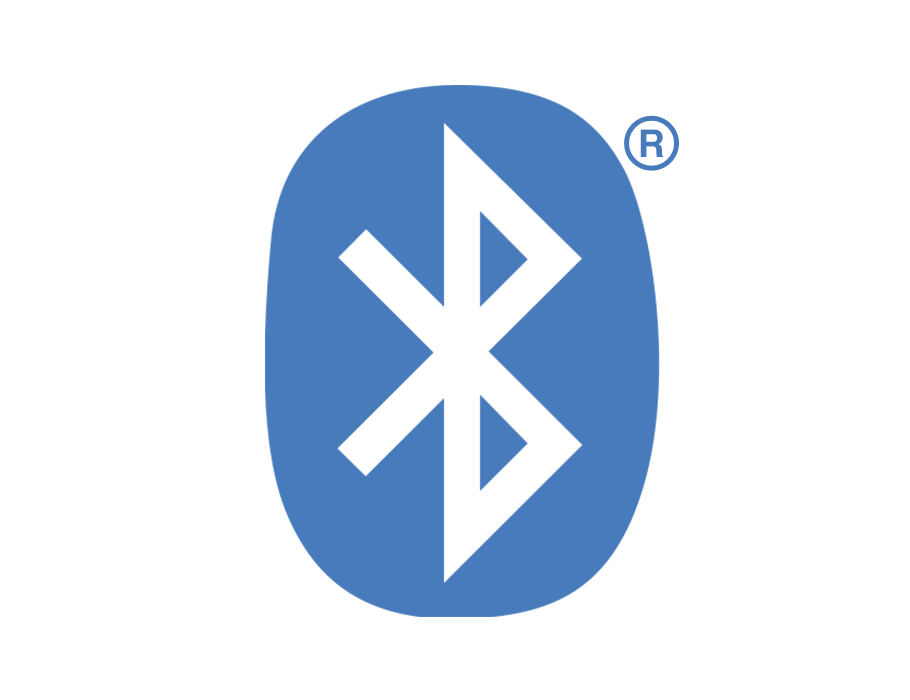 Standard blue and white Bluetooth logo