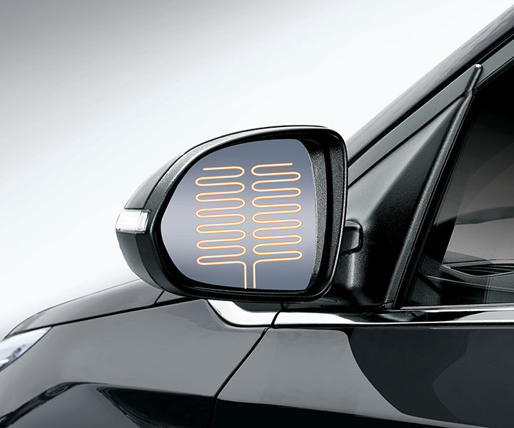 Heated Side Mirrors With LED Side Repeaters
