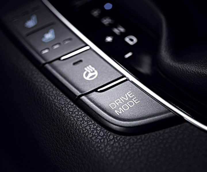 Photo of the Hyundai 2018 Elantra GT's Drive Mode Select with three driving style modes