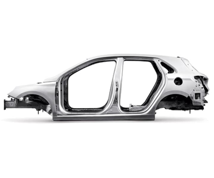 Shot of the Hyundai 2018 Elantra GT's superstructure body for supersafety
