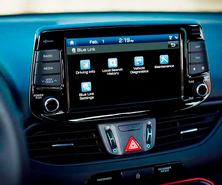 Photo of the Hyundai 2018 Elantra GT BlueLink feature for simplified vehicle ownership