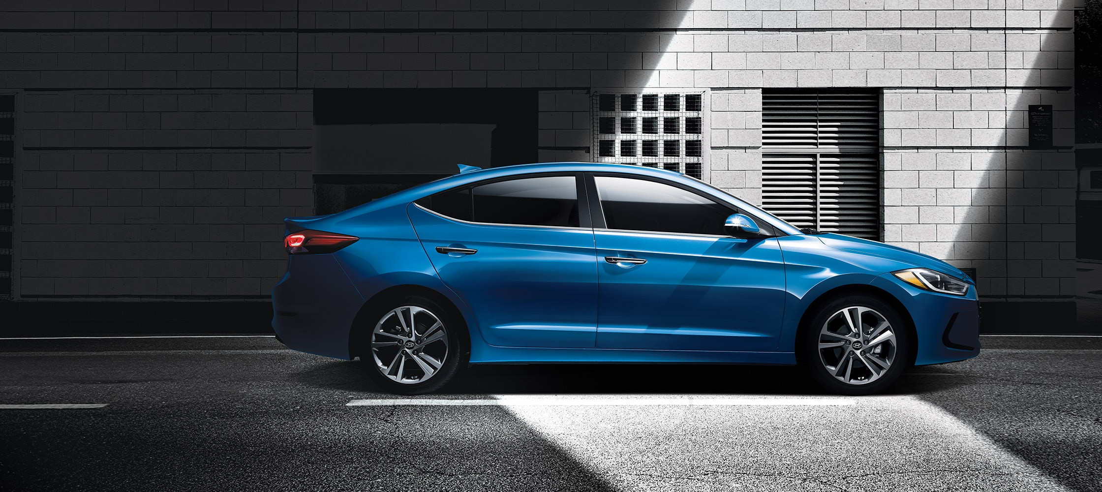 In Both Shadow And Light The All New 2017 Elantra Is Stunning By Design Shown Here In Feature Colour Moon Light Blue