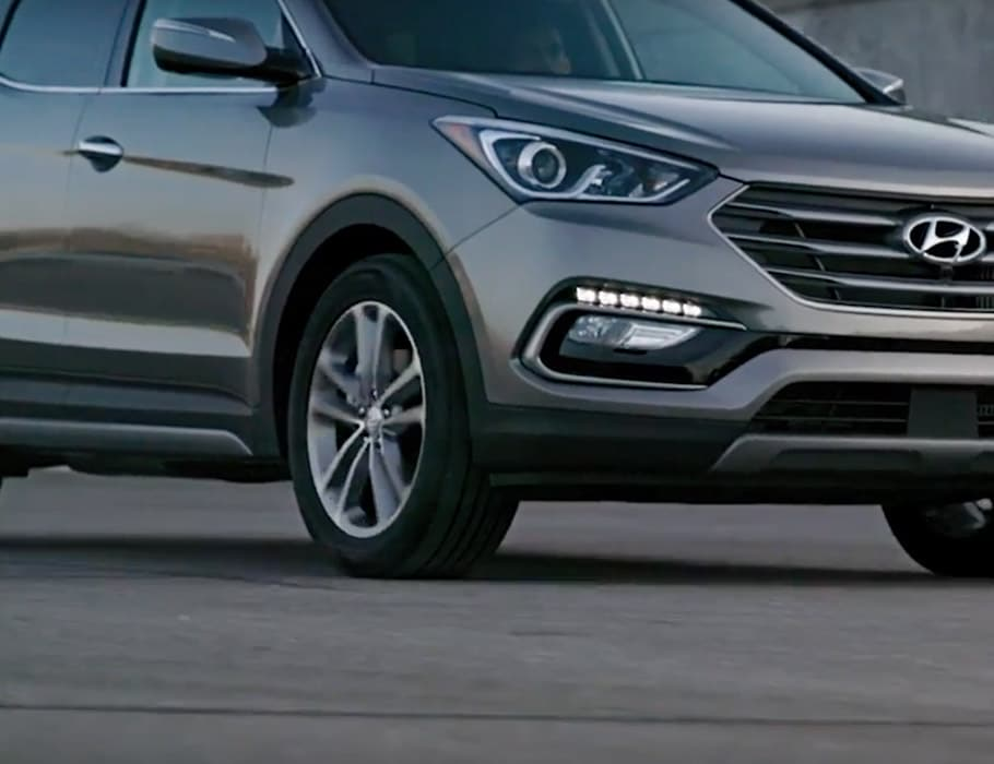 All Wheel Drive In Motion for Superior Handling On The Hyundai Santa Fe Sport SUV 2018