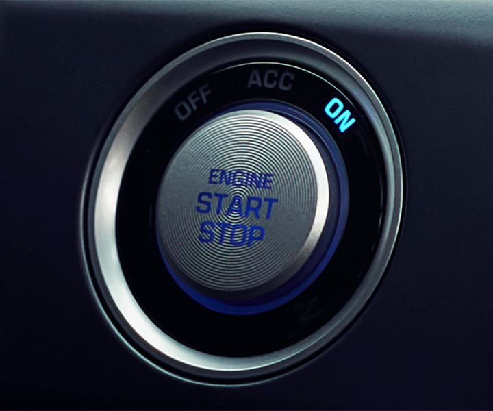 Closeup of the keyless entry push button in every Hyundai 2018 Sonata.
