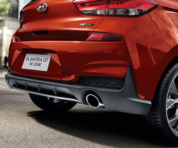 Top Of The Line Hyundai: Dual Chrome Tipped Exhaust