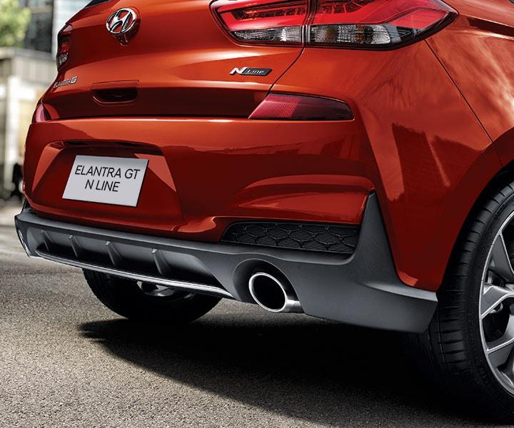 Hyundai Elantra Gt Turbo: Dual Chrome Tipped Exhaust