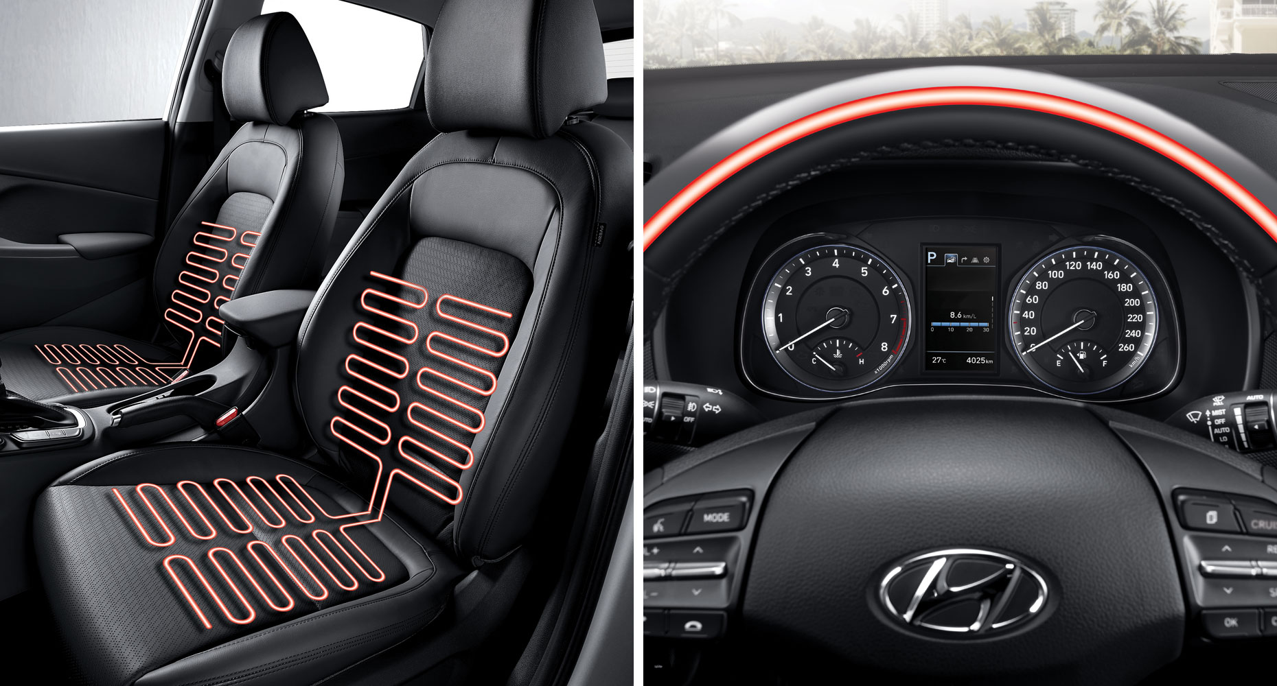 heated front seats and steering wheel. Black Bedroom Furniture Sets. Home Design Ideas