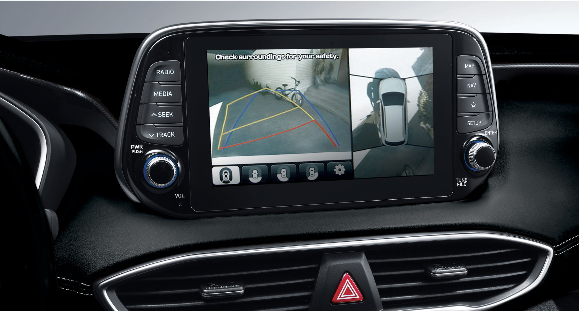 All New 2019 Hyundai Santa Fe Suv Crossover Utility Vehicle Awd System Available Surround View Monitor