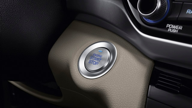 Interior push-button ignition on the 2020 Elantra