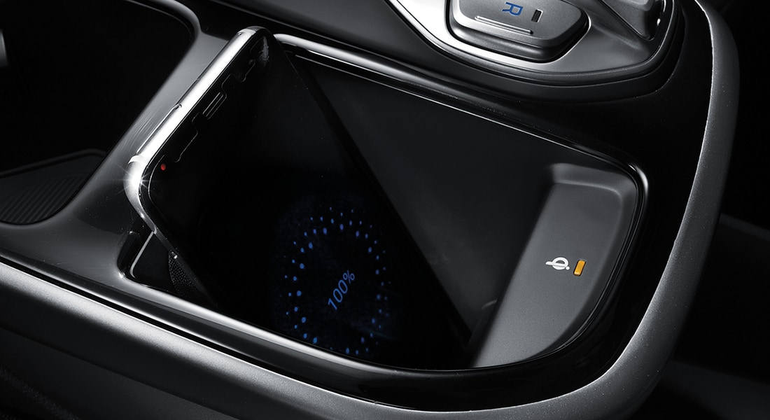 Wireless charging tray on the 2020 IONIQ Electric