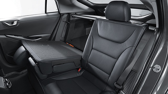 60/40 split fold down rear seats of the 2020 IONIQ Electric