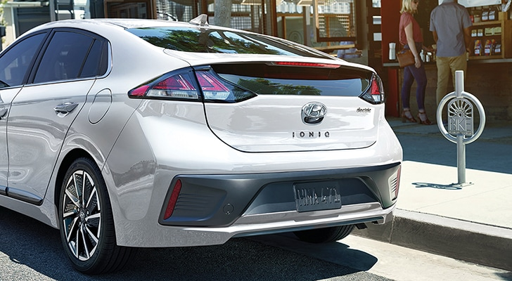 Rear view of the 2020 IONIQ Electric