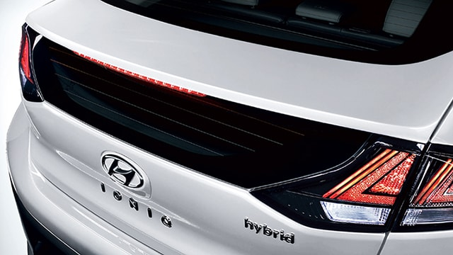 Rear tail lights on the 2020 IONIQ Hybrid