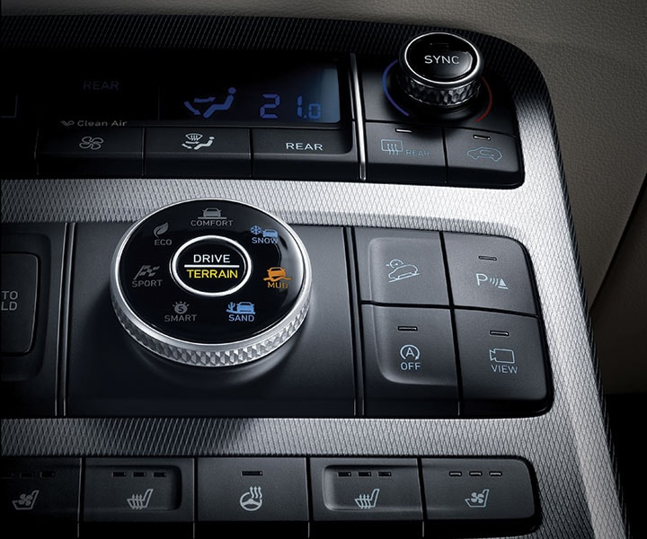 2020 Hyundai Palisade: HTRAC™ All-Wheel Drive With Multi-terrain Control Modes