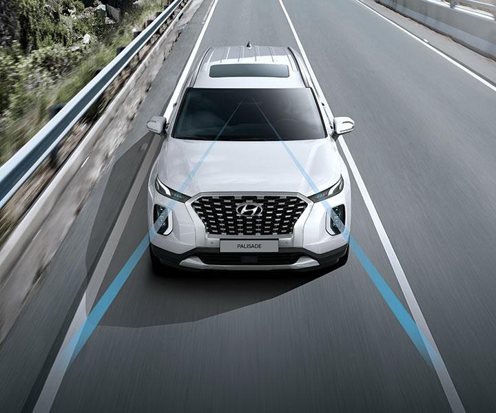 2020 Hyundai Palisade: Lane Departure Warning With Lane Keeping Assist