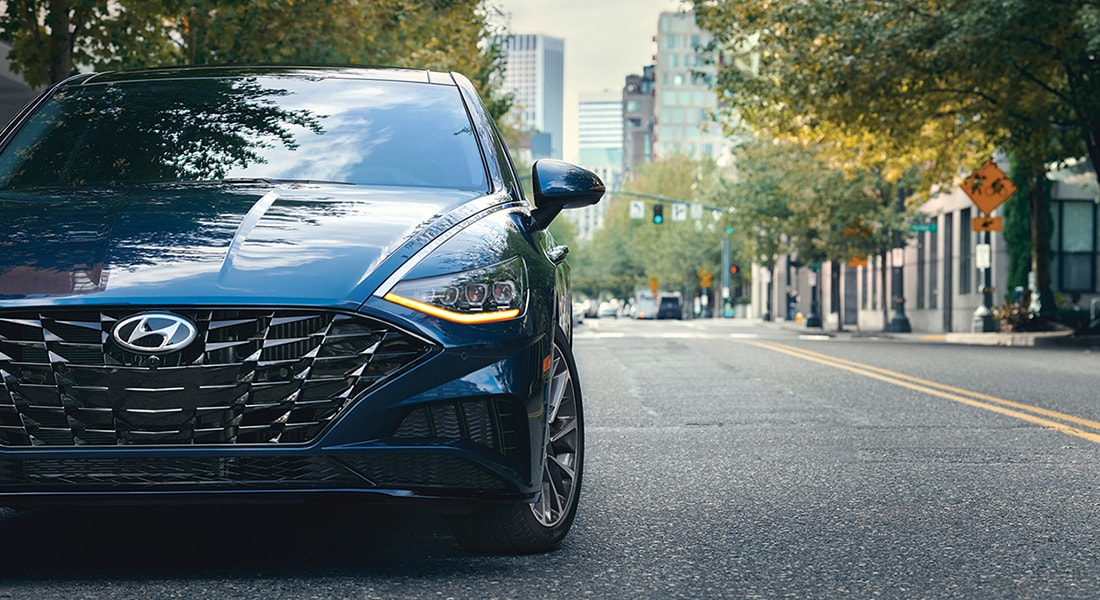 Exterior front grille on the 2020 Sonata