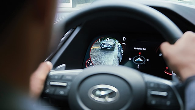 Interior digital display cluster of the 2020 Sonata