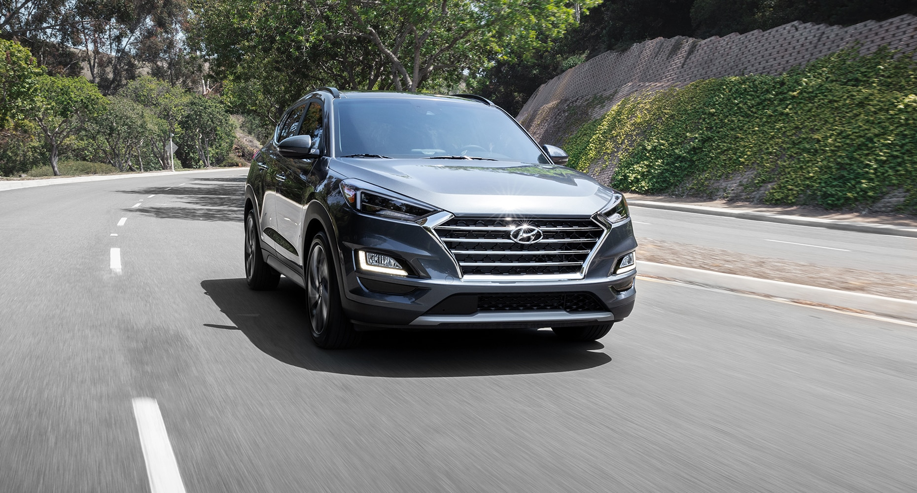 Front grille of the 2020 Tucson.