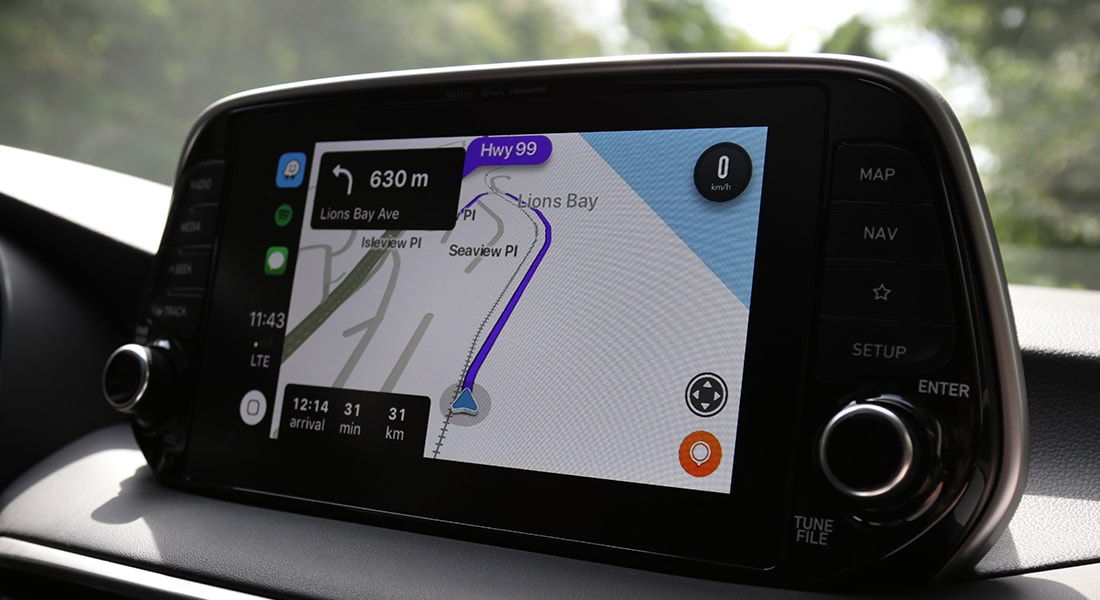 Interior image of the 2020 Tucson touch screen.
