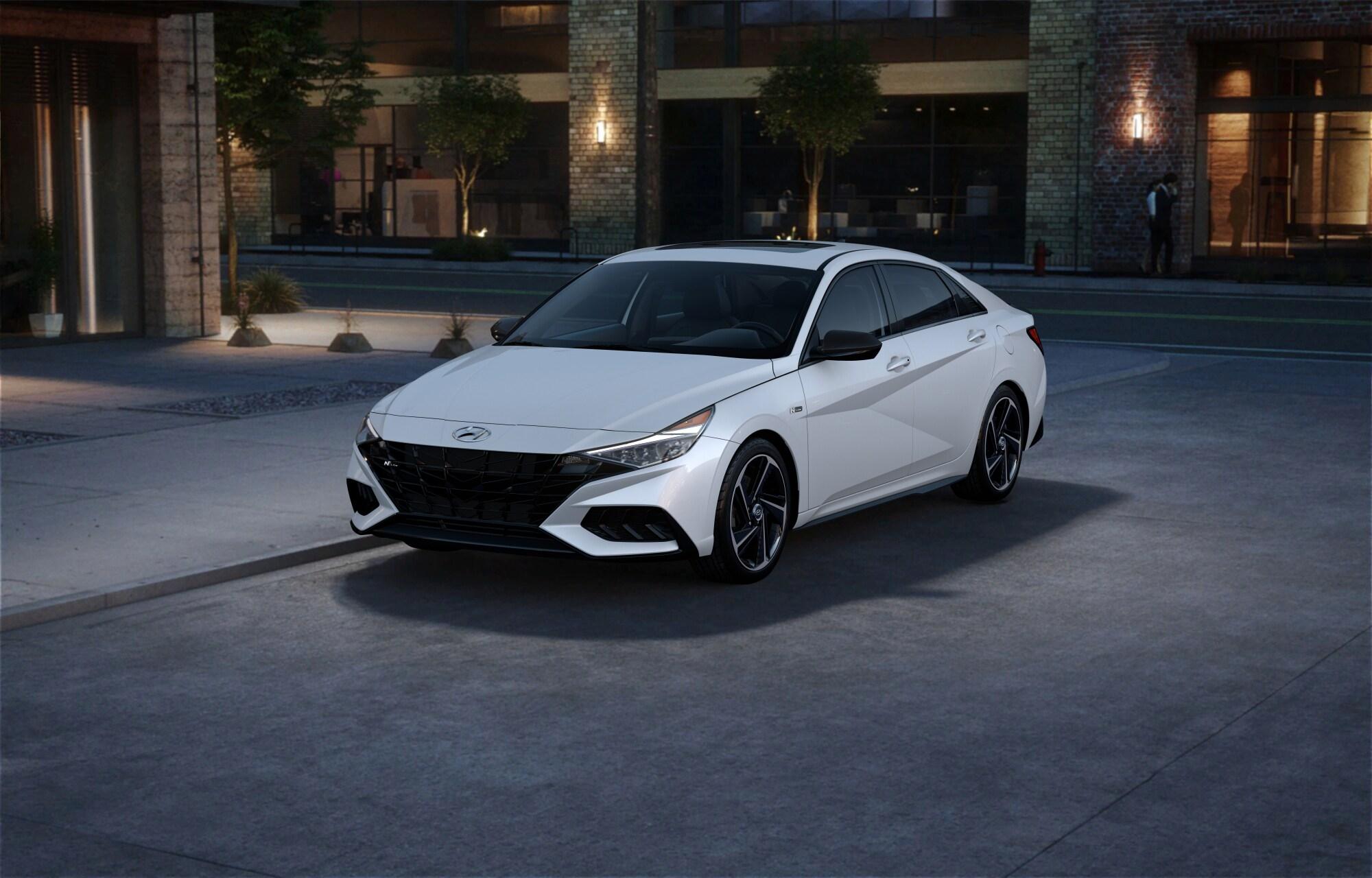 Hyundai ELANTRA N LINE 2021 Blanc polaire