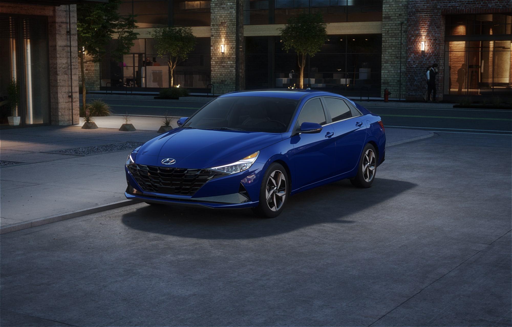 Hyundai ELANTRA 2021 Bleu intense