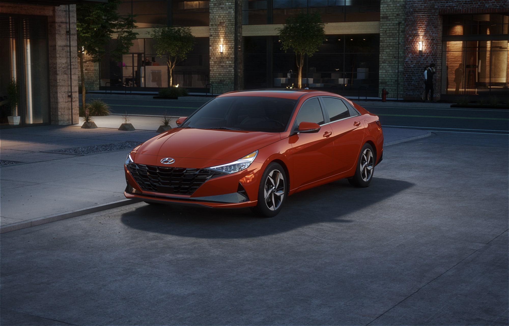 Hyundai ELANTRA 2021 Orange lave