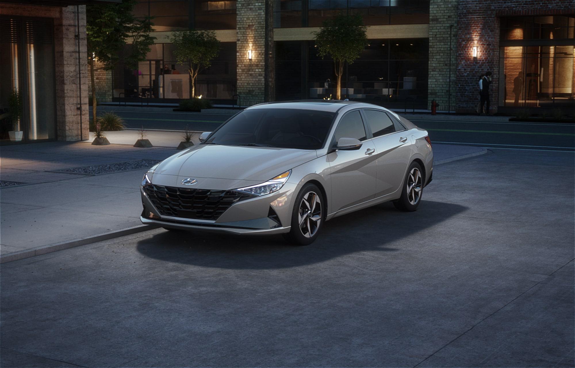 Hyundai ELANTRA 2021 Gris cyber