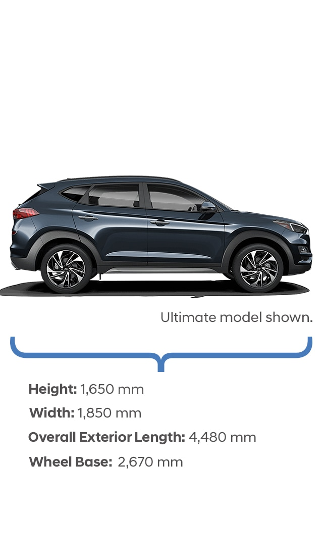 Height and Width Specifications of the Hyundai 2017 Tucson