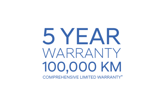5 Year Warranty 100,000 Km Comprehensive Warranty